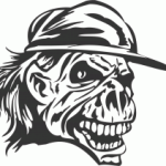 Skull-With-Cap-DXF-File.png