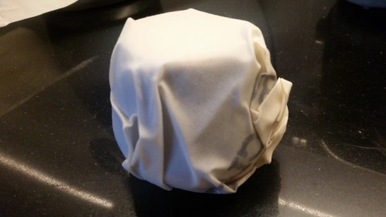 cream jug wrapped in buzzcloth