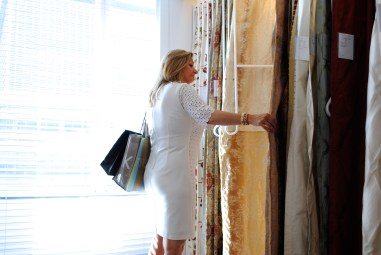 """I swear this is the last time we're going to look at fabric!"" (yeah, right!) as I browse the Cowtan and Tout showroom"