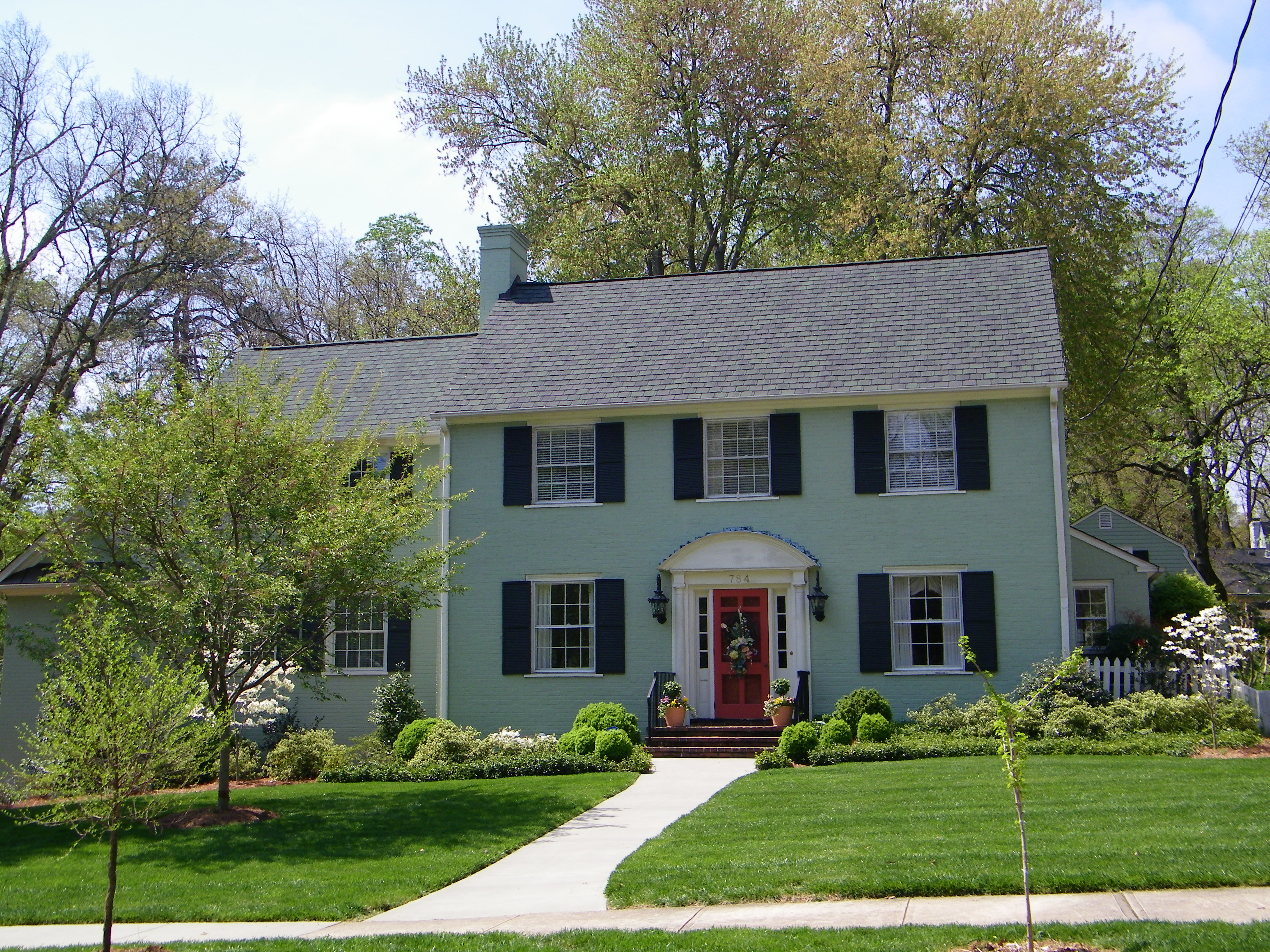 Inside and Out | Painted Brick Houses | Design Sensibility on Brick House Painting Ideas  id=11565