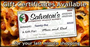 Salvatori's Facebook advertisement gift certificates