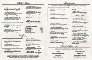 Salvatori's menu pages 3-4