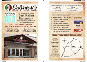 Salvatori's Fort Wayne Magazine print advertisement