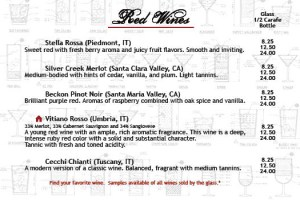 Salvatori's Beverage/Dessert Menu red wine 01