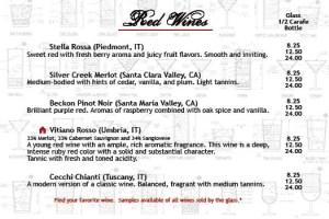 Salvatori's Beverage/Dessert Menu red wine 01