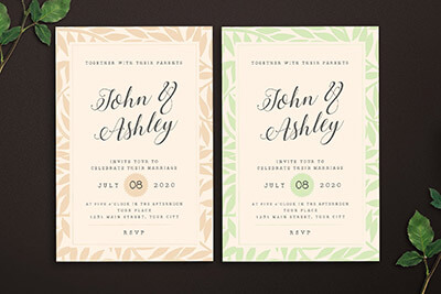 50 Wonderful Wedding Invitation Card Design Samples