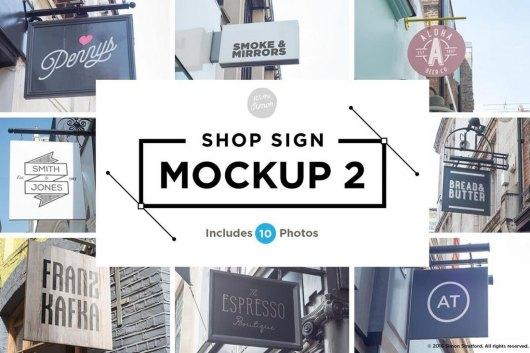 10 Shop Sign Mockups