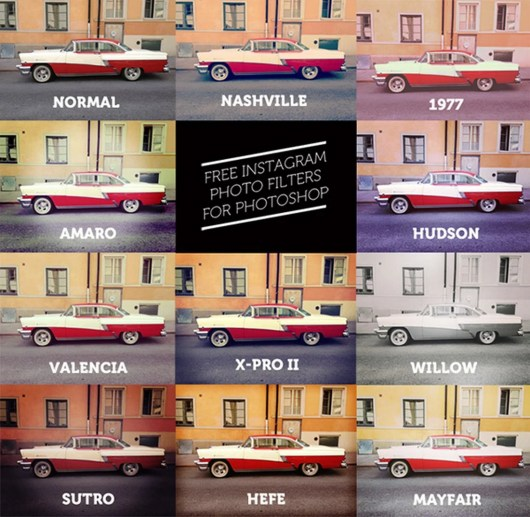 11 Free Instagram Filters For Photoshop Actions