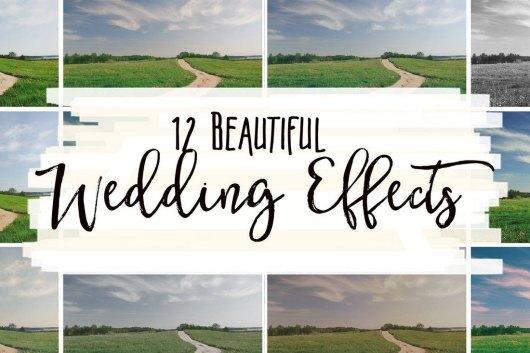 12 Beautiful Wedding Effects