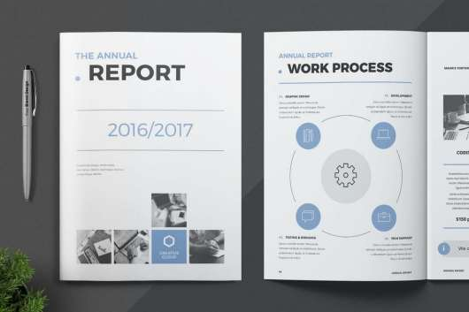 18-Page Annual Report Template