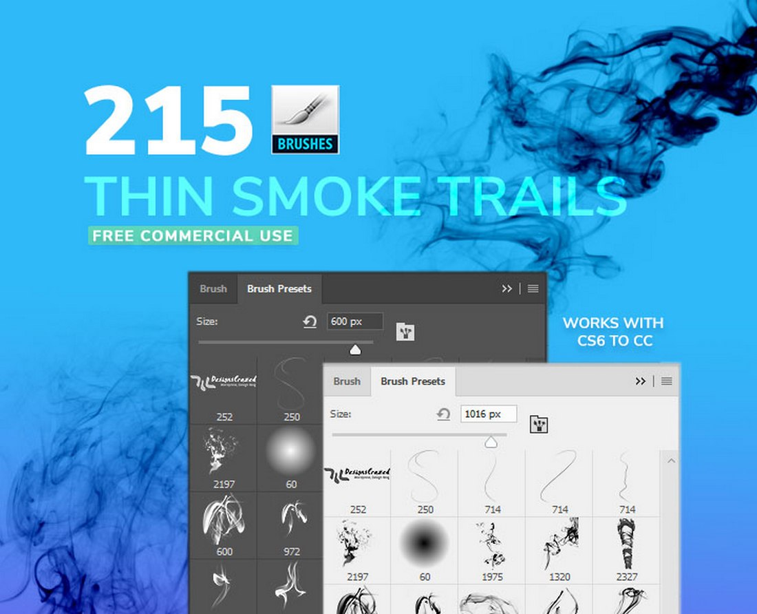 Free Thin Smoke Brushes
