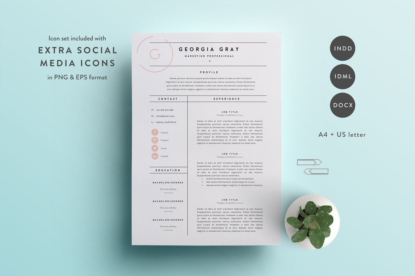 50  Best CV   Resume Templates of 2018   Design Shack 3 Page Resume Template for Word   InDesign