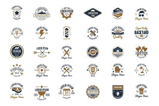 30 Vintage Logos Sign Templates