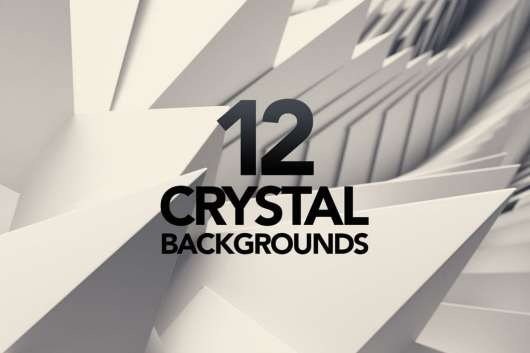 3D Crystal White Triangle Backgrounds