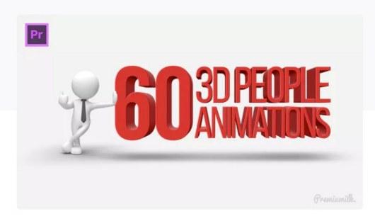 3d people premiere pro template
