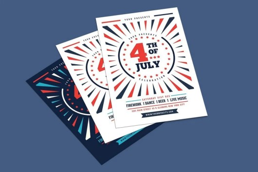 4th of July Event Flyer