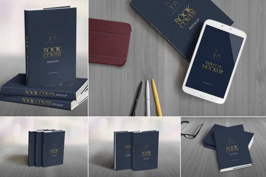 5 Hardcover Book Mockup Templates