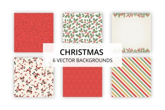 6 Vector Christmas Backgrounds