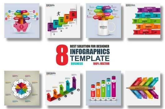 8 Vector Infographics Templates
