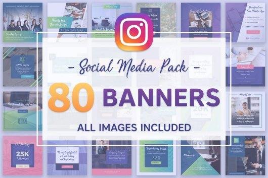 80 Instagram Banners Bundle