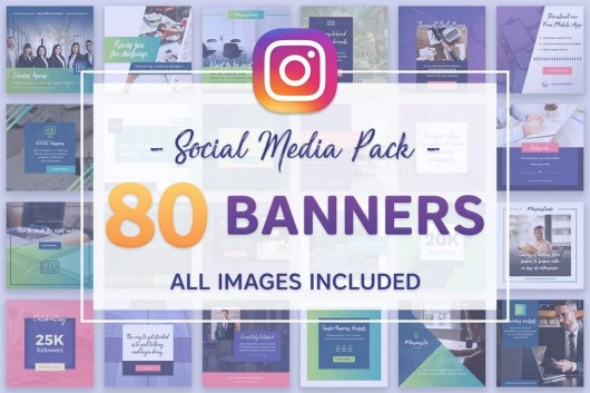 80 Instagram Banners Bundle