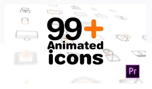 99 icons premiere pro template