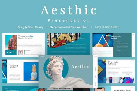 Aesthic - Free Multipurpose PowerPoint Template