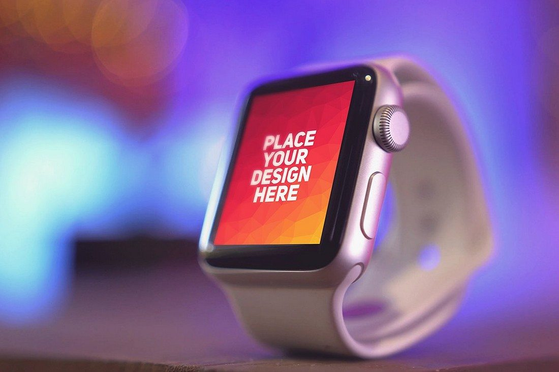 50+ Apple Watch Mockups & Graphics 30