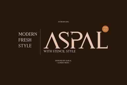Aspal - Elegant & Modern Font