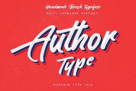 Author Type - Brush Script Font