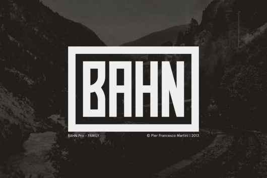 BAHN Pro - Narrow Font Family