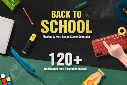 Back To School Mockup & Hero Image Scene Generator