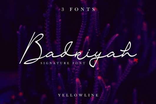 Badriyah Script Font