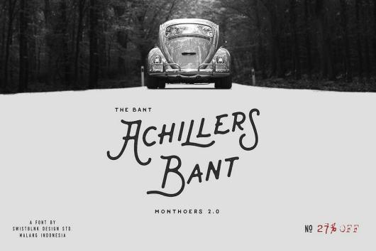 Bant Achillers - Vintage Singage Font