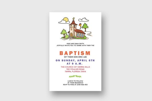 Baptism Church Bulletin Template