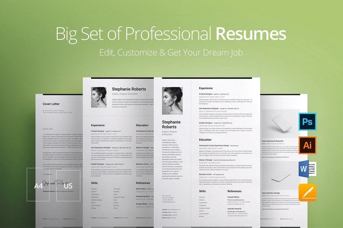 20 Best Pages Resume Cv Templates Irc Web Services