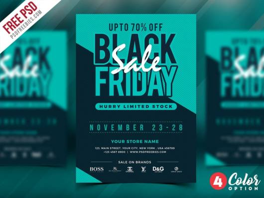 Black Friday Sale Flyer & Poster Template
