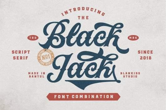 Black Jack Script and Serif