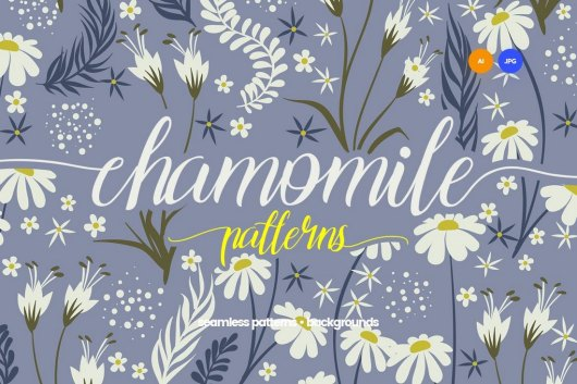 Chamomile - Seamless Patterns Floral Backgrounds