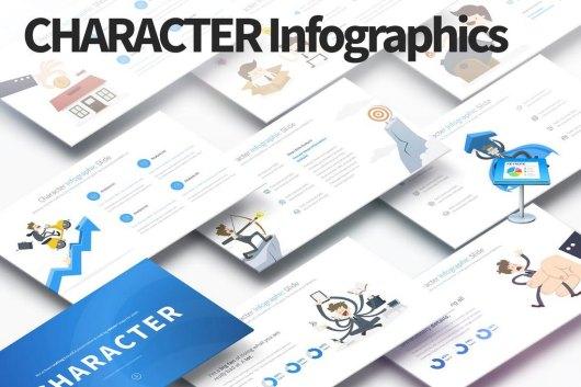 Character - Keynote Infographics Slides