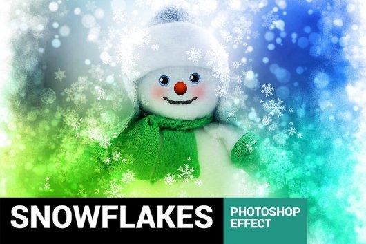 Christmas Snowflakes Photoshop Action