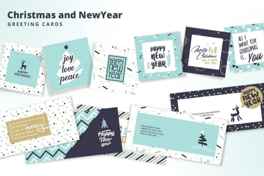 Christmas and New Year's Greeting Cards Collection