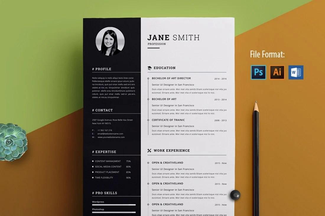 Idml), apple (mac) pages, microsoft publisher, adobe illustrator (ai) resume templates. 30 Best Free Resume Templates For Word Design Shack
