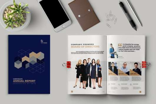 Colorful Annual Report Template