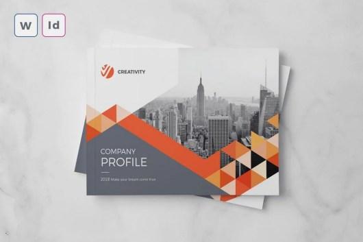 Company Profile A5 Word Brochure Template