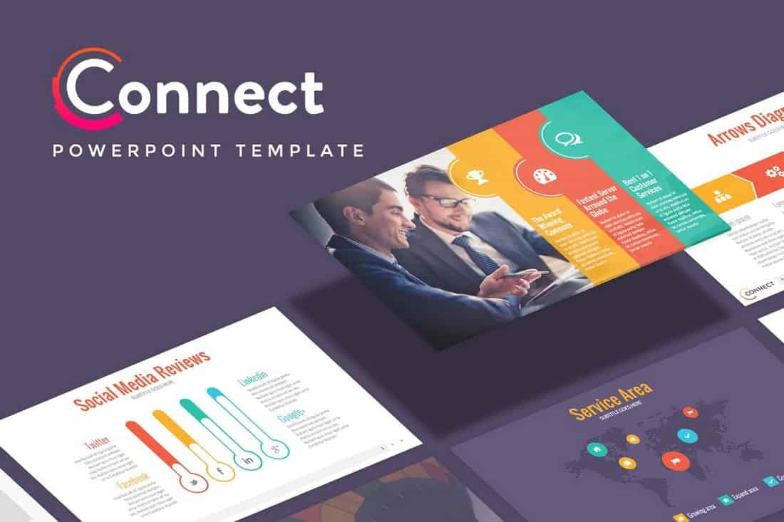 Connect - Startup Pitch Deck Template For PowerPoint