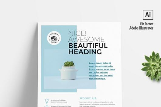 Corporate Minimal Flyer & Poster Template