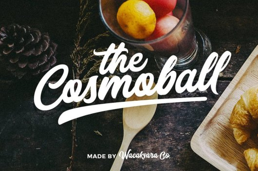 Cosmoball Poster Font