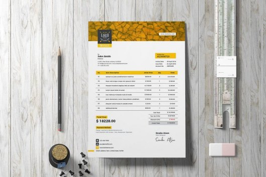 Creative Retro Invoice Template