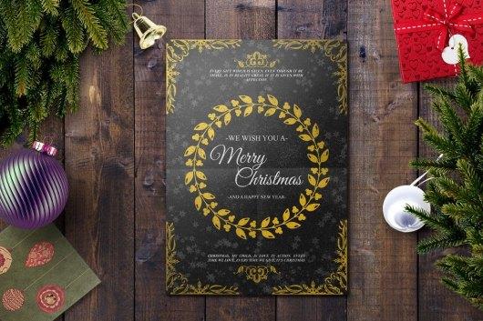 Elegant Christmas Card Template
